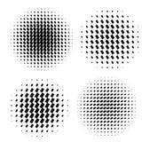Abstract halftone circle shapes set. Design elements Royalty Free Illustration