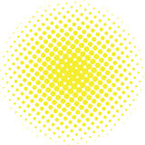 Abstract halftone design element. Yellow pop art dot background. Pop-art style spotted illustration. Polka dot vector template. Stock Images