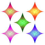Abstract Halftone Design rhombus Elements set, vector illustration Stock Image