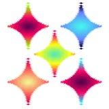 Abstract Halftone Design rhombus Elements set, vector illustration Royalty Free Stock Photography