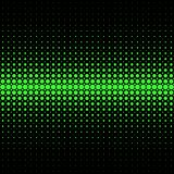 Abstract halftone dot pattern background - vector graphic from green circles on black background Stock Images