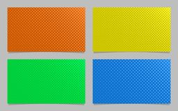 Abstract halftone dot pattern business card background design set  Stock Photography