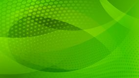 Abstract halftone dots background. Abstract background of curved lines, curves and halftone dots in green colors Royalty Free Illustration