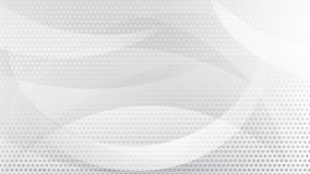 Abstract halftone dots background. Abstract background of curved lines, curves and halftone dots in white and gray colors Vector Illustration