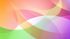 Abstract halftone dots background. Abstract colored background of curved lines, curves and halftone dots stock illustration
