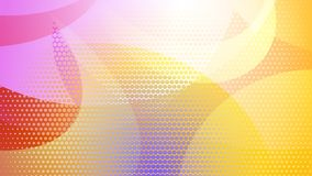 Abstract halftone dots background. Abstract colored background of curved lines, curves and halftone dots royalty free illustration