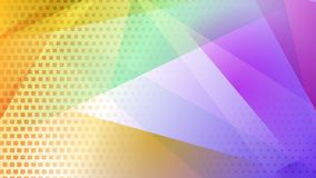 Abstract halftone dots background. Abstract colored background of lines, polygons and halftone dots royalty free illustration
