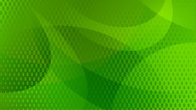 Abstract halftone dots background. Abstract background of curved lines, curves and halftone dots in green colors Vector Illustration