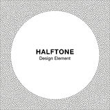 Abstract Halftone Dots Frame. Circle  Background. Royalty Free Stock Photos