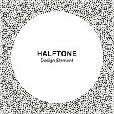 Abstract Halftone Dots Frame. Circle  Background. Royalty Free Stock Images