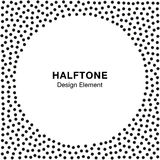 Abstract Halftone Dots Frame. Circle  Background. Royalty Free Stock Photography