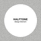 Abstract Halftone Dots Frame De achtergrond van de cirkel Royalty-vrije Stock Afbeeldingen