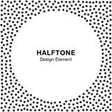 Abstract Halftone Dots Frame De achtergrond van de cirkel Royalty-vrije Stock Fotografie