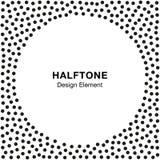 Abstract Halftone Dots Frame De achtergrond van de cirkel Royalty-vrije Stock Foto's