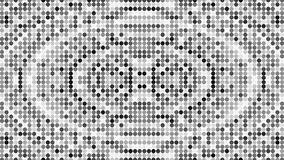 Abstract halftone dotted background. Monochrome pattern with dot and circles. 3d rendering stock illustration