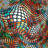 Abstract halftone dotted background of multicolored spots Stock Images
