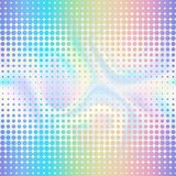 Abstract Halftone Double Seamless Border. Abstract gradient rainbowl foil double halftone seamless border on holographic background with dots. Hologram effect Stock Image