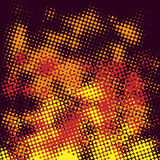 Abstract halftone fire. Abstract halftone fire on a dark background. Vector illustration Royalty Free Stock Photos