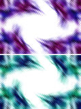 Abstract halftone frame. Set of two abstract modern halftone vortex border frame or background vector illustration