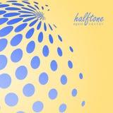 Abstract halftone gebied in blauwe kleur op de achtergrond van de complimentenkleur Stock Foto