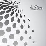 Abstract halftone gebied in grayscalekleur Royalty-vrije Stock Afbeelding