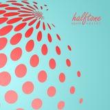 Abstract halftone gebied in rode kleur op de achtergrond van de complimentenkleur Stock Foto