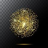 Abstract Halftone gold glitter Design circle Elements, vector illustration, logo Stock Photos