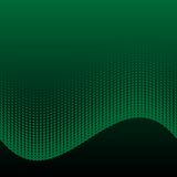 Abstract halftone green and black background Royalty Free Stock Images