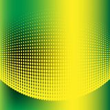 Abstract halftone green and yellow background. Vector illustration Royalty Free Stock Image