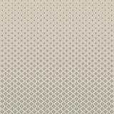 Abstract halftone grijs vierkant patroon op bruine achtergrond, Vecto Stock Fotografie