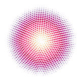 Abstract halftone heart dots  pattern background Stock Photo