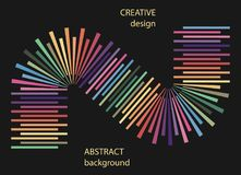 Abstract halftone lines colorful background. Vector creative geometric pattern, sign, banner, poster stock illustration