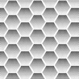 Abstract halftone, minimalist seamless pattern on white background from hexagon. Gradient halftone pop-art retro style Royalty Free Stock Image