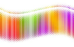 Abstract halftone multicolor waves Royalty Free Stock Image