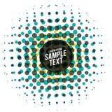 Abstract halftone ontwerp in multikleuren Royalty-vrije Stock Foto