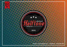 Abstract Halftone Patterns background with badge Stock Photography