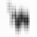 Abstract halftone soundwave design element Royalty Free Stock Photos