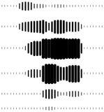 Abstract halftone soundwave design element Stock Photos