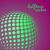 Abstract halftone sphere in green color Royalty Free Stock Image