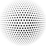 Abstract halftone sphere vector background. Illustration Royalty Free Stock Photography