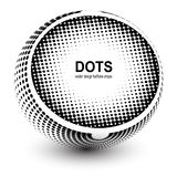 Abstract Halftone sphere Royalty Free Stock Photo