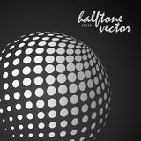 Abstract halftone sphere in white color Stock Photo