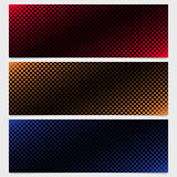 Abstract halftone square pattern banner template design set - vector graphic design from diagonal squares. In varying sizes royalty free illustration