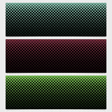 Abstract halftone square pattern banner template design set - vector graphic design Stock Photography