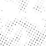 Abstract halftone texture with letters. stock illustration