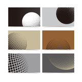 Abstract halftone vector business card background  Stock Photo