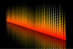 Abstract Halftone wave Stock Photo