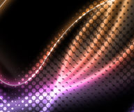 Abstract Halftone Wavy Graphic Background Royalty Free Stock Photography