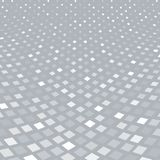 Abstract halftone white square pattern perspective on gray backg. Round. Vector modern futuristic texture illustration Royalty Free Stock Photos