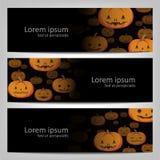 Abstract Halloween-achtergrondbrochuremalplaatje Royalty-vrije Stock Foto